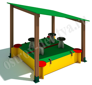 Песочница Стандарт с крышей тип -2